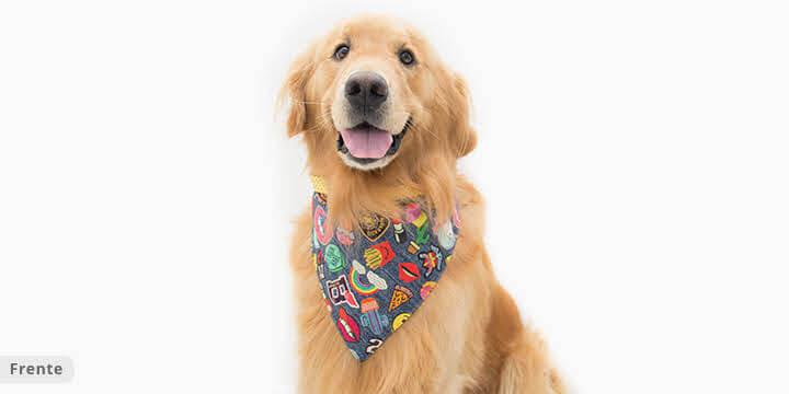 bandana para cachorro jeans