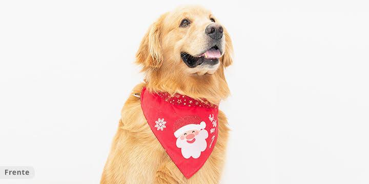 bandana para cachorro natal