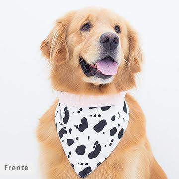 bandana para cachorro vaquinha
